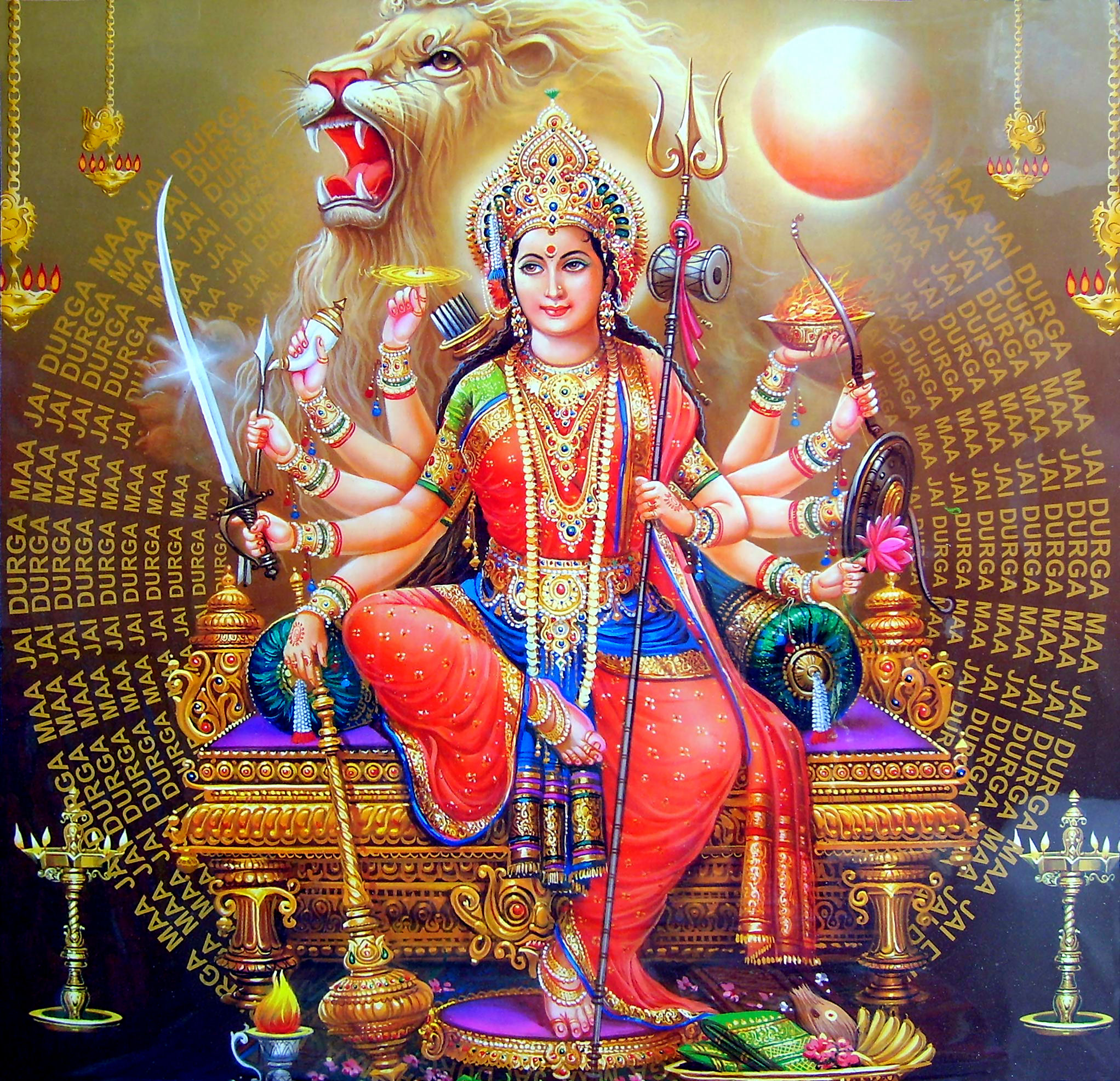 9 aspects of Devi worshiped for 9 days